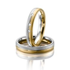 Verighete aur alb si aur galben MDV620 #verighete #verighete3mm #verigheteaur #verigheteauraplicatie #magazinuldeverighete 50 Euro, Wedding Rings, Engagement Rings, Jewelry, Crystal, Weddings, Diamond, Jewlery, Rings For Engagement