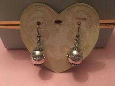 BRIGHTON Earrings GLIMMER TWIST French Ear Wire Silver Crystals Retail $42 NWT | eBay