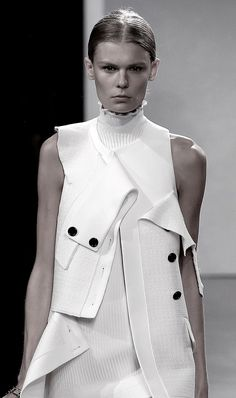 awesome Deconstructed tailoring with peeling layers; fashion details // Proenza Schouler...
