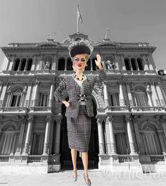 https://flic.kr/p/EqsbfR   Barbie Madonna Evita Peron Style Ooak   stores.ebay.com/IMPERIALIS-OOAK-DOLLS