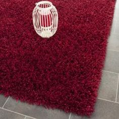 Shop for Safavieh Handmade Posh Red Shag Rug (8' x 10'). Get free shipping at Overstock.com - Your Online Home Decor Outlet Store! Get 5% in rewards with Club O!