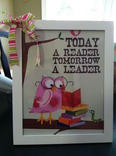 Owl Themed Back to School teacher gift 2013