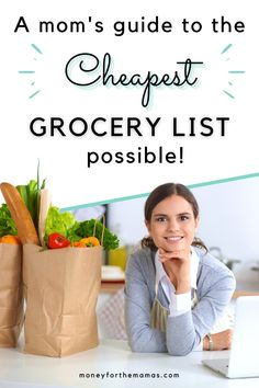 If you're looking to save money on your grocery list then you have to go through this post for the ultimate shopping list! This goes through the top food items to grab at the store (and more important which items to skip)! Your grocery list on a budget doesn't have to be just boring food, no top ramen or hot dogs here, just a good healthy grocery list (with a few treat foods)! Yes, it's true, cheap meals can be healthy, and they start with good ingredients! Healthy Groceries, Save Money On Groceries, Ways To Save Money, Money Tips, Money Saving Tips, How To Make Money, Cheap Grocery List, Grocery Lists, Frugal Living Tips