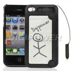 BLACK MAGNETIC DRAWING MAGIC CASE COVER SKIN FOR APPLE IPHONE 4 4G 4S