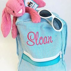 """Peekawhoo.com on Instagram  """"Backpacks are not just for school! Look cool  carrying your stuff in our personalized Mint backpacks. 1f9d15056079b"""