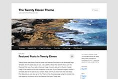 Wordpress Theme TwentyEleven ~ elegant and appears to be supremely functional for photography.