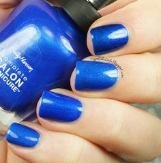 Sally Hansen - Batbano Blue dupes by mypolishstash