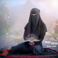 ERBANYAKLAH ISTIGHFAR! . ✍ Seorang tabi'in, Bakr bin Abdillah Al-Muzanni (wafat 106 H) rahimahullah berkata Hijab Dp, Hijab Niqab, Muslim Hijab, Niqab Fashion, Islam Women, Hijab Cartoon, Hijab Wedding Dresses, Boy Photography Poses, Hijabi Girl