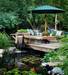 Healthy, blue water can be achieved with Organic Pond Products!  www.organicpond.com