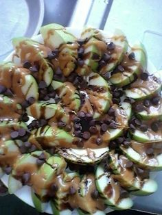 apple nachos..yum! @Julia Hudson - Can I call this 'healthy' and go with it? :)