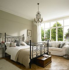 Modern Country Style: Farrow and Ball Shaded White: Colour Case Study Click through for details. Modern Country Style, Country Style Homes, Country Decor, Home Bedroom, Bedroom Decor, Cosy Home, Neutral Paint, Neutral Tones, Farrow Ball