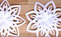 Lumitähti 3D. Leikkaa ja liimaa.