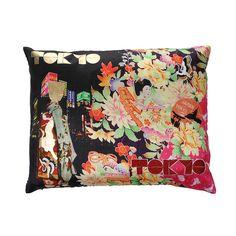 Discover the Christian Lacroix Tokyo Geisha Multicolore Cushion - 60x45cm at Amara