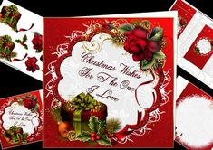 8x8 Christmas wishes for the one I love mini kit on Craftsuprint designed by Carol Smith - a mini kit for Christmas especially for that special person in your life suitable for male or female could be for husband, wife, boyfriend, girlfriend partner etc. Has the words Christmas Wishes For the One I love framed and decorated with beautiful drama red rose spray and luxury decorated gift box.Kit contains main topper, decoupage elements, insert plate, gift tag, and gift bag.thank you for looking…
