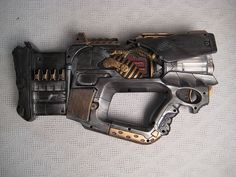 Incredible steampunk nerf gun.