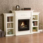 Holly & Martin Fredricksburg Gel Fireplace w/ Bookcases-Ivory. If you are looking for an elegant accessory for your home, this is the piece for you. This beautiful and functional fireplace features an ivory finish that looks great in any room that yo Fireplace Mantel Shelf, Home, Wildon Home, Furniture, Home Projects, Room, Fireplace, Home Deco, Fireplace Bookcase