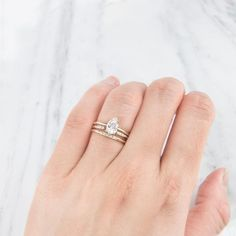 Stacking rings, engagement ring and wedding rings | Jamie Park Jewelry