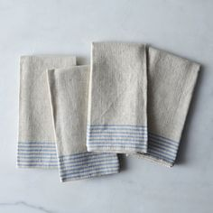 Agrarian Striped Linen Napkins (Set of 4) on Food52