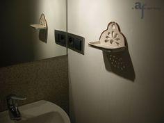 Agaf Design ceramic soap dish in a bathroom