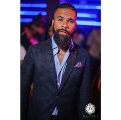 @_Chrisclassic || Photo by @danieldaphotog || Black men with beards. Crown braid. Men's hair. hairstyles for men. bearded gentlemen. bearded men. men with beards.