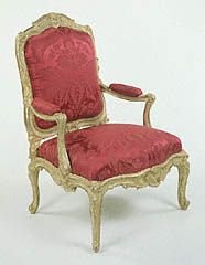 Using an upholstery method known as à chassis, the chair maker made the comfortably padded backs, seats, & arms of these chairs easily removable. The servants of the chairs' owner  changed the fabric on the cushions with the seasons of the year, using a heavy damask or tapestry in the winter, replacing it with a lighter colored silk in the spring. A brief announcement in the newspaper informed the fashion-conscious inhabitants of 1700s Paris when to change their furniture coverings. LB