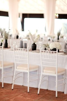 black grey and white wedding decor.