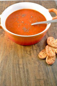 geroosterde paprika soep    Roasted pepper soup :)