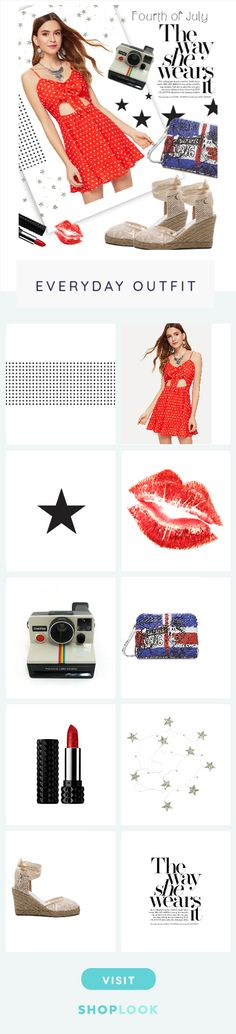 Fourth of July created on ShopLook.io featuring , shein, , , , burberry, , , soludos,  perfect for Everyday.