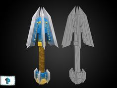 Low poly mace (916) base model with hand painted (512 diff) texture whitch gives amazing WOW-styled design. Also check our other weapons, textures and packages at gumroad.com/1poly !
