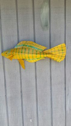 Leopard wrasse- made from Palm tree materials