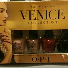 OPI Venice collection 4 colors :A great opera-tunity, worth a pretty penne, a more at the grand canal, & my gondola or yours?(trade value $15 OPI Makeup