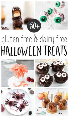 If your family or friends have food allergies, here are over 50 fun dairy free and gluten free Halloween treats to make for parties or school! Our roundup also includes vegan, nut free, low carb, and paleo options | thefitcookie.com #Halloween #glutenfree #dairyfree #allergyfriendly #freefrom Best Gluten Free Recipes, Gluten Free Recipes For Dinner, Halloween Treats To Make, Food Allergies, Nut Free, Glutenfree, Paleo, Low Carb, Parties