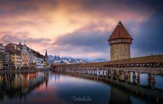 Luzern Kapellbrücke (Switzerland) by Urs Schmidli / 500px