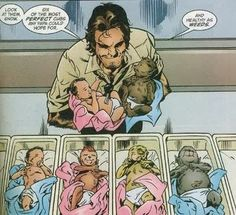 Bigby with babies