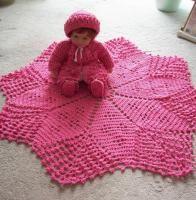 Crochet Star Baby Set.