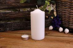 Κεριά Κυλινδρικά Λευκά Φ7x15εκ Pillar Candles, Taper Candles