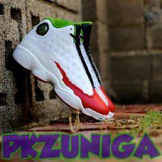 """Nike Air Jordan 13 """"Joker"""" Customs"""