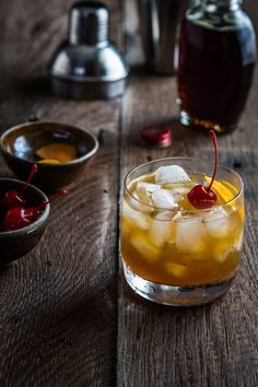 This Maple Bourbon Cocktail is full of warm bourbon, maple and orange flavors that pair perfectly for a fall cocktail.