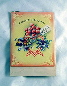 Secret Admirer Valentines Card Never Used  with by AlchemistPantry, $2.00