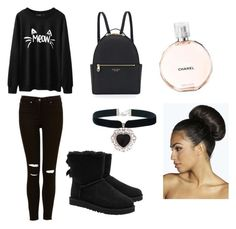"""Untitled #1"" by radina0919 ❤ liked on Polyvore featuring UGG Australia, Henri Bendel, Rock 'N Rose and Boohoo"