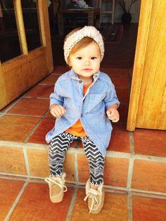 Crochet baby turban style headband