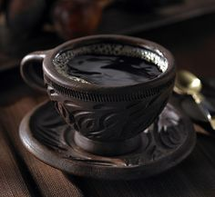 Beautiful coffee cup. I love drinking coffee from special cups like this one. It helps me remember the special occasion.