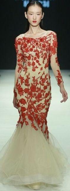 Mercedes-Benz China Fashion Week ALLWHITE Peng Jing Wedding Dress Collection