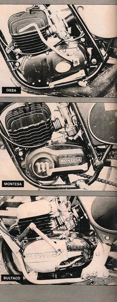 2 stroke from Spain: Ossa, Montesa, Bultaco