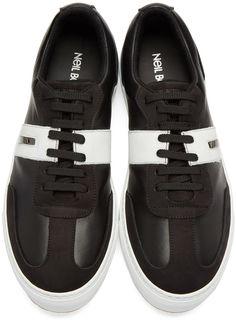Neil Barrett - Black Retro Modernist Sneakers