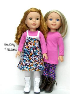 14 inch doll clothes AG doll clothes rose by Unendingtreasures