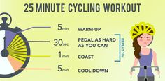 Interval Training - 25 Minute Cycling Workout #HIIT