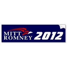 Mitt Romney 2012 Bumpersticker - Dark Blue Bumper Stickers