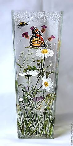 pots pots The post pots appeared first on Glas ideen. Glass Painting Patterns, Painting Glass Jars, Painted Glass Vases, Glass Painting Designs, Pottery Painting Designs, Painted Wine Bottles, Hand Painted Wine Glasses, Bottle Painting, Glass Art