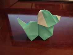 Really cute little origami dog. http://www.instructables.com/id/Origami-Dog/
